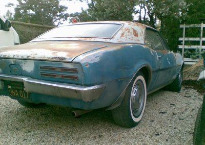 Before shot of 1967 Pontiac Firebird which had a complete restoration undertaken on it.