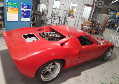 Before shot of full respray of replica Ford GT40 with full fibreglass body.